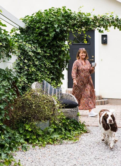 Jeanette älskar murgröna som växer snabbt och bäddar in.