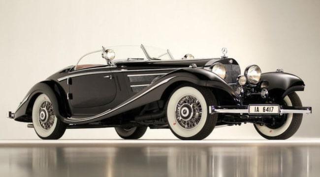 Dyrast: 1936 Mercedes-Benz 540K Special Roadster, såld för 11,770,000 dollar.