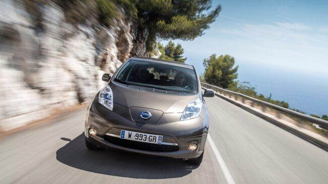Populära elbilen Nissan Leaf.