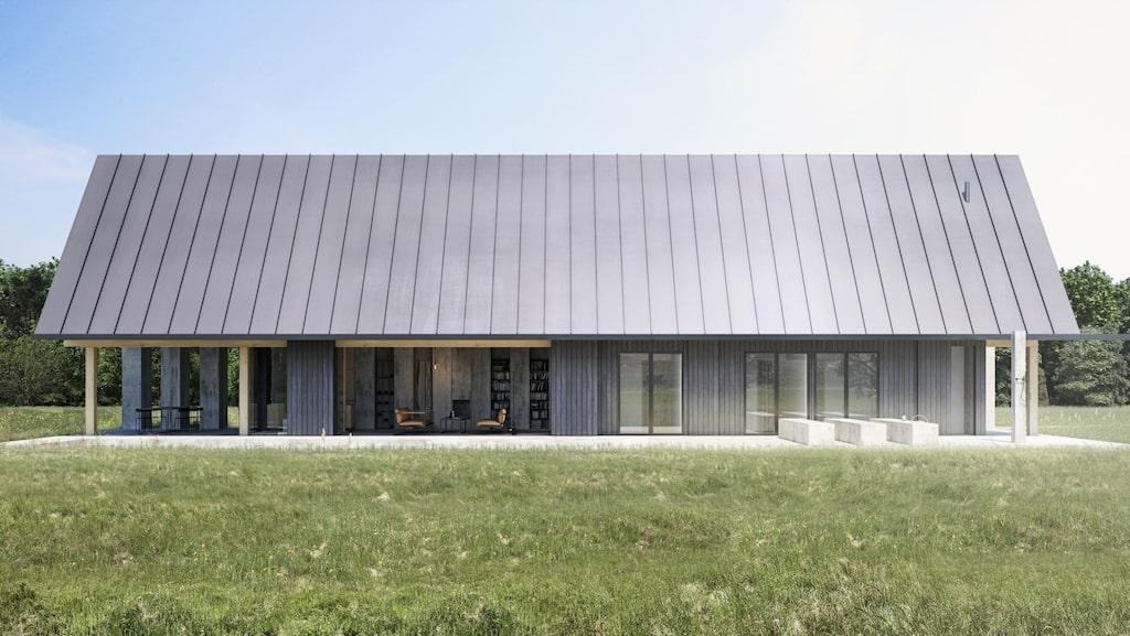 Huset ska se ut som en modern variant av en lada.