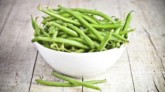 60 råa gröna bönor = 100 kalorier