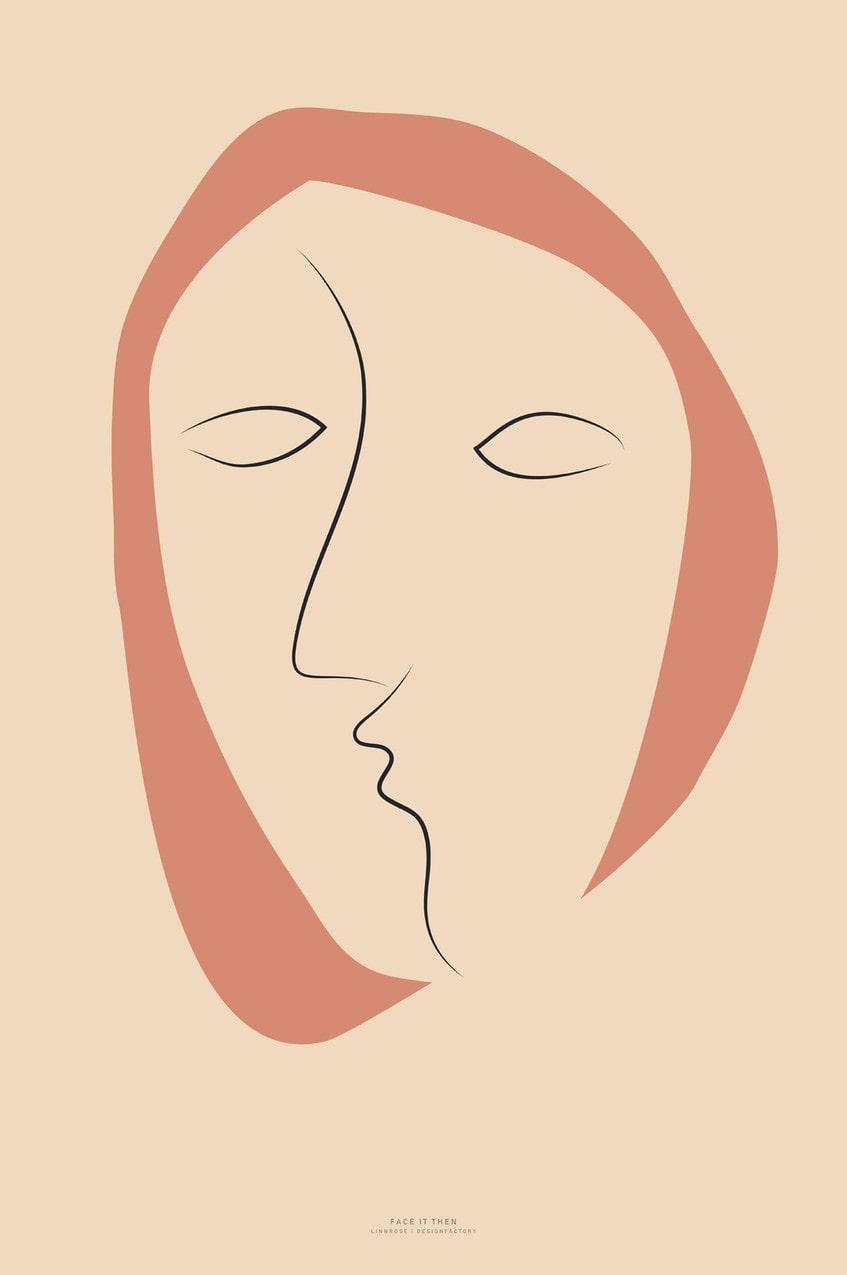 "Poster ""Face It 2"", från 199 kr, Malerifabrikken."
