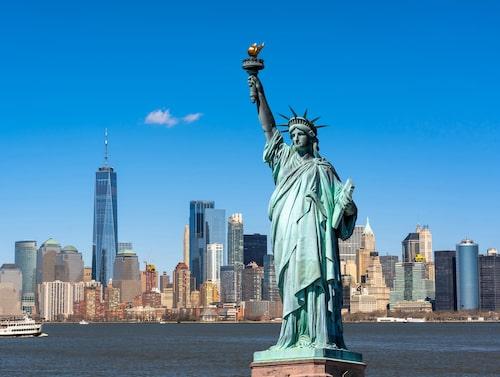 Frihetsgudinnan – symbol för New York. Men i vilken delstat finns hon?