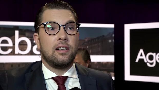 """Jimmie Åkesson om piken till SVT: """"En jättestor skandal"""""""