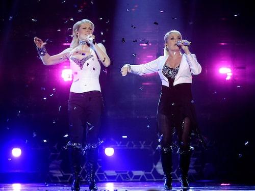 Lili & Susie i Melodifestivalen 2008.