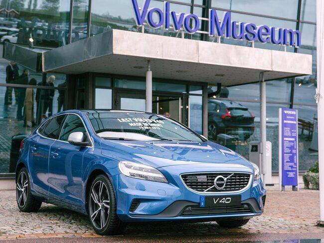 Sista exemplaret av Volvo V40 kan nu beskådas på Volvos museum i Göteborg.