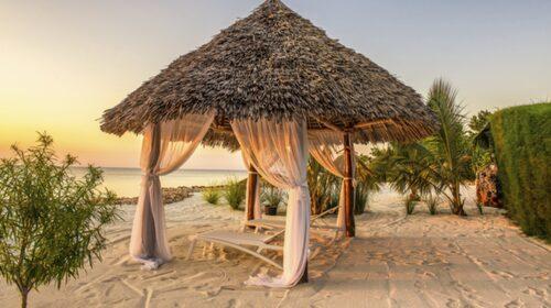 Vita stränder på Zanzibar.