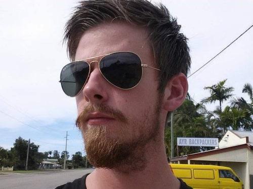 Dennis Karlsson från Lund är ute på resande fot.