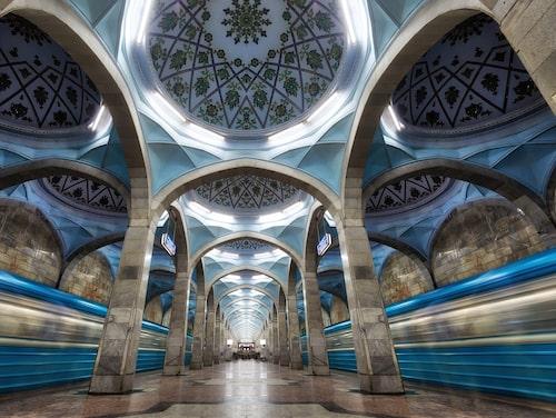 Tunnelbanestation i Tasjkent.