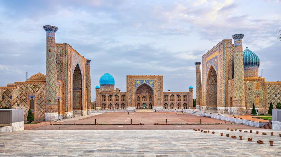 Det världsarvsklassade Registan-torget var en gång hjärtat i Samarkand.