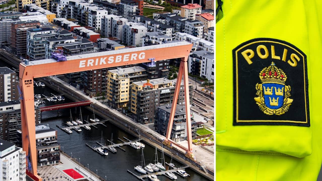 Antisemitiskt budskap lyste på kran i Göteborg