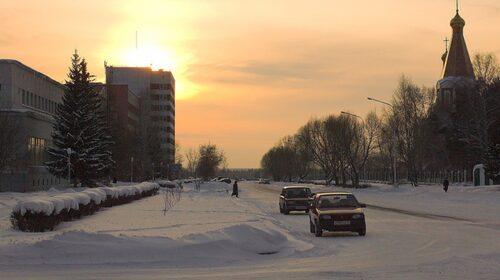 Kurchatova-gatan i Seversk.