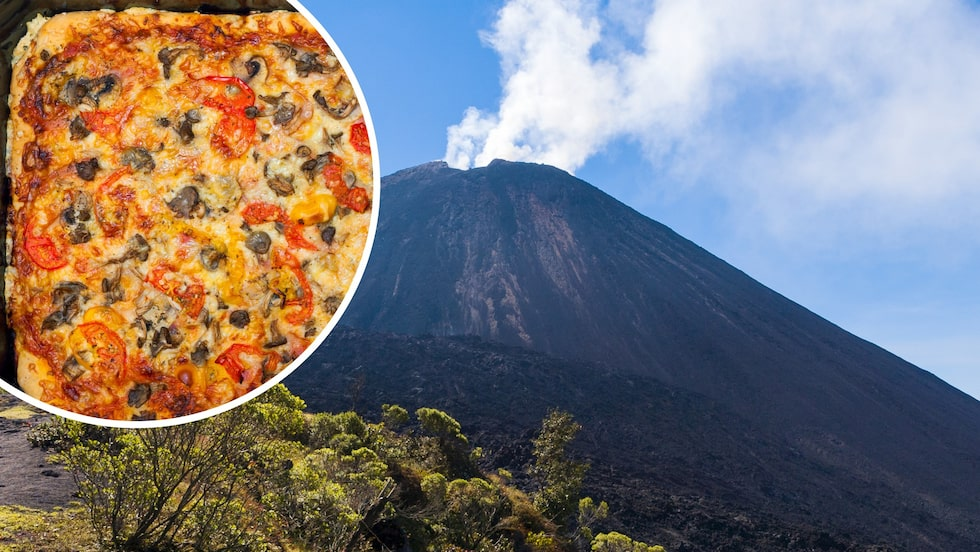 Vulkanen Pacaya i Guatemala.