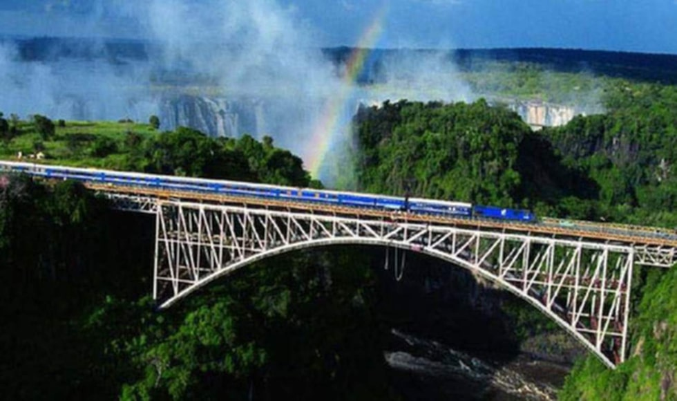 The Blue Train resan mellan Kapstaden och Johannesburg.