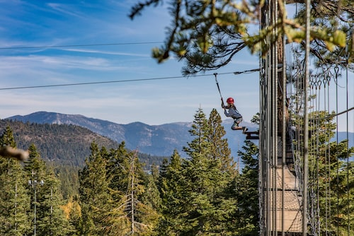 Äventyr på hög höjd i Tahoe Treetop Adventure Park.