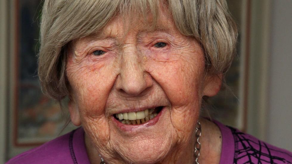 Dagny är 104 år och har blivit en kändis på senare tid.