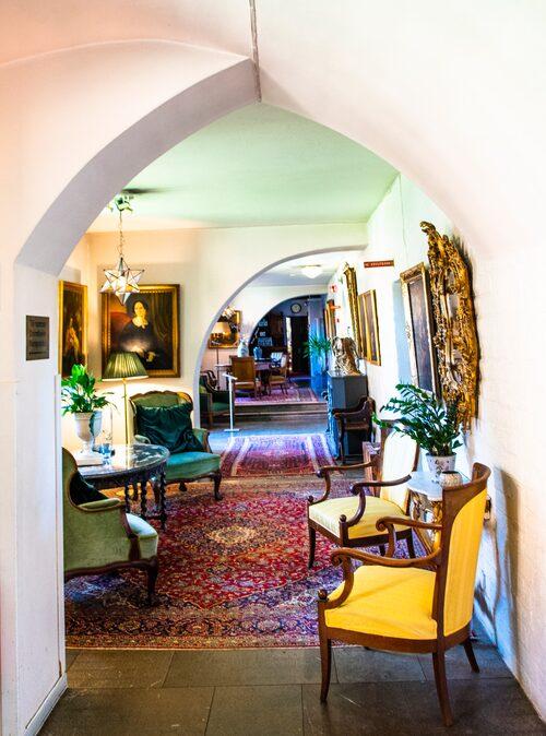 Vacker interiör från Klosterhotellet.