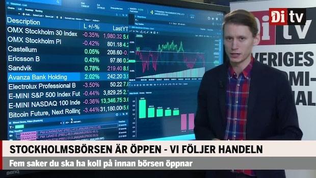 Marknadskoll: Försiktiga rörelser på Stockholmsbörsen  – Sandvik upp 1 procent