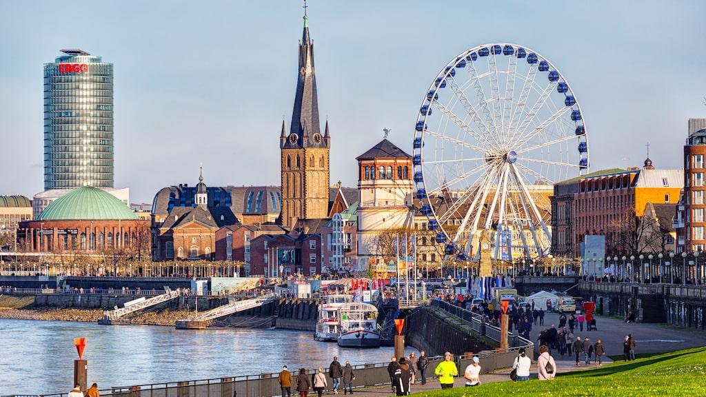 Ett British Airways-plan var i söndags på väg från London till Düsseldorf.