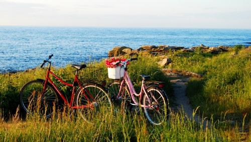 Bornholm är väldigt cykelvänligt.
