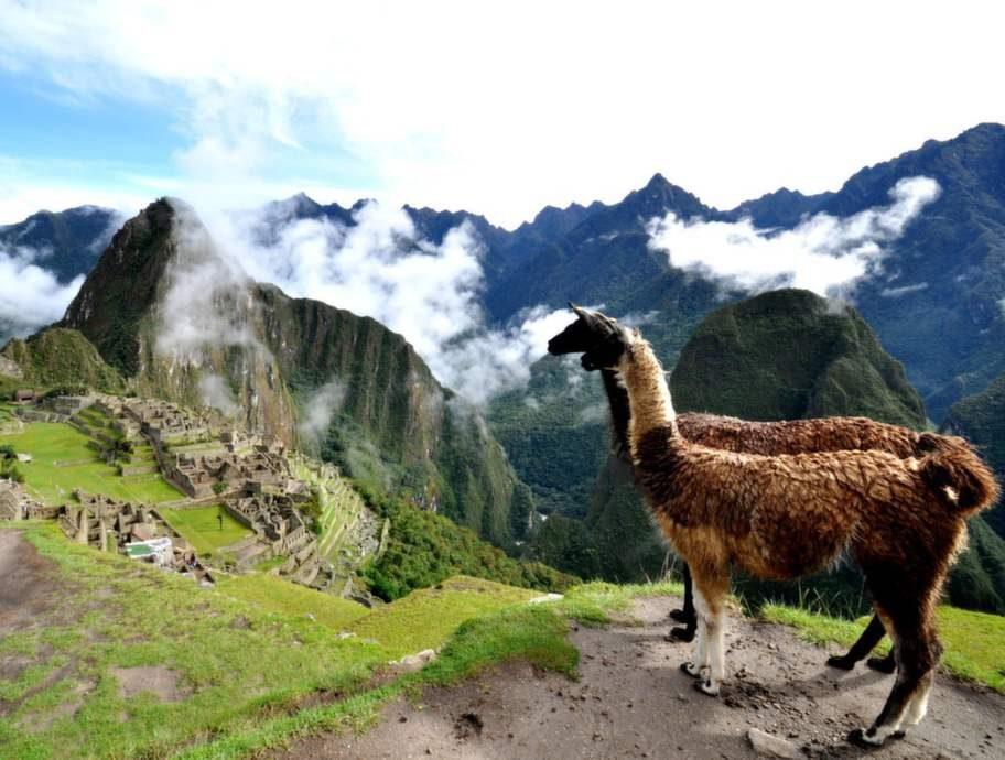 Machu Picchu i Peru.
