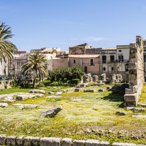 Ruiner i Ortygia i Syrakusa.
