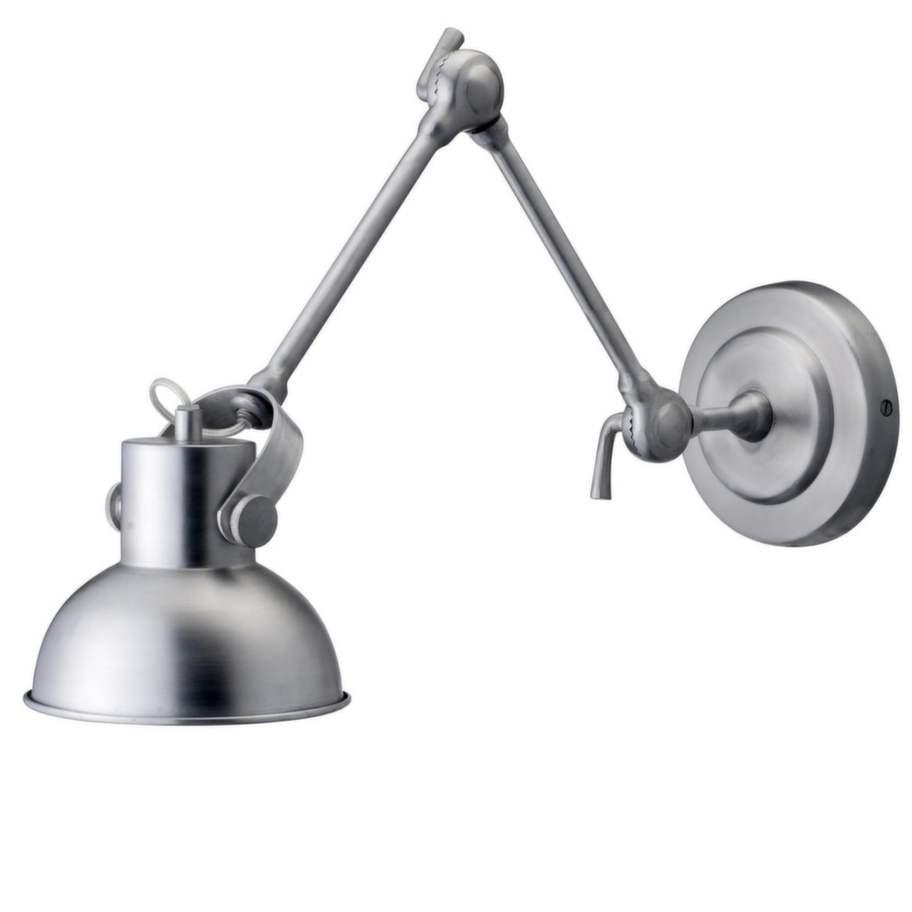 11 Vägglampa i borstat rostfritt stål från Bloomingville, reglerbar arm på 55 centimeter, 1 599 kronor, Pysselgumman.
