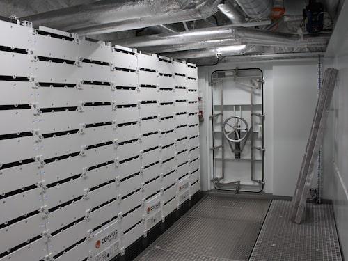 Batterirummet ombord på MS Roald Amundsen.