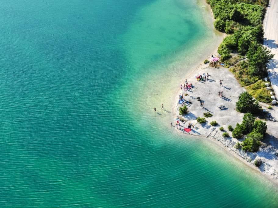 Blå lagunen, Gotland.