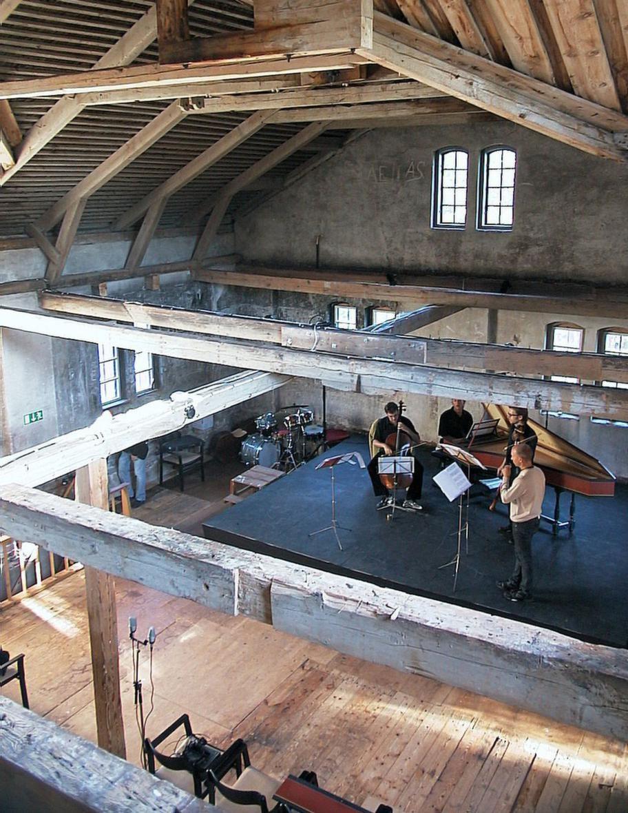 Konsertlokal. Konserterna i kvarnen är mycket populära.