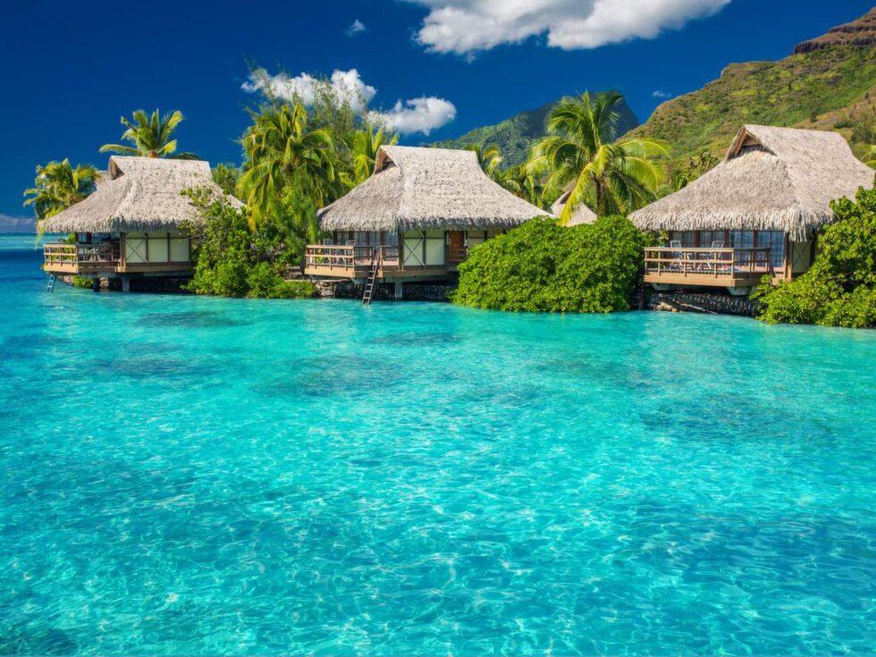 Turkosa dröm. Moorea ligger i Franska Polynesien.
