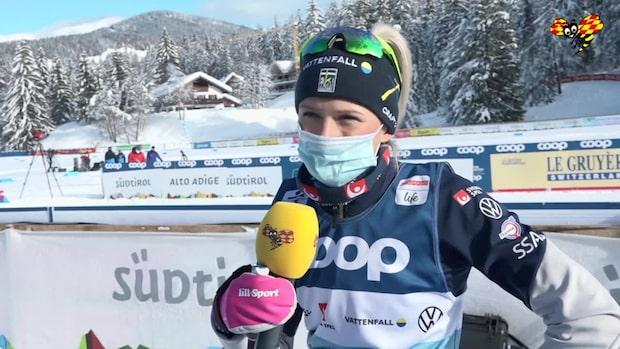 """Frida Karlsson om fortsättningen i Tour de ski: """"Det är en fördel för mig"""""""
