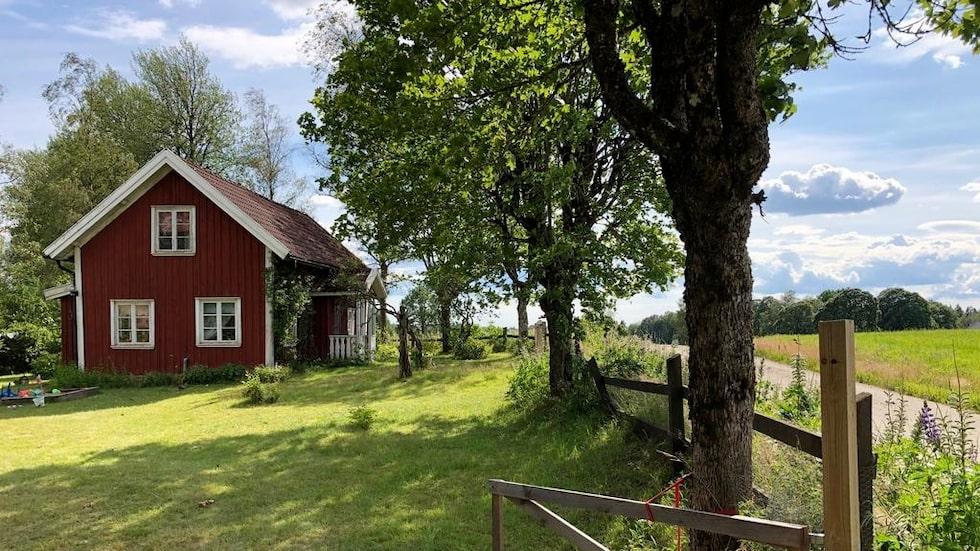 Det här torpet ligger utanför Tranemo i Västergötland och är nu till salu för 395 000 kronor.