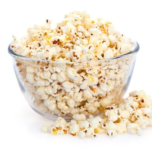 Välj popcorn som du poppar själv – gärna med rapsolja.