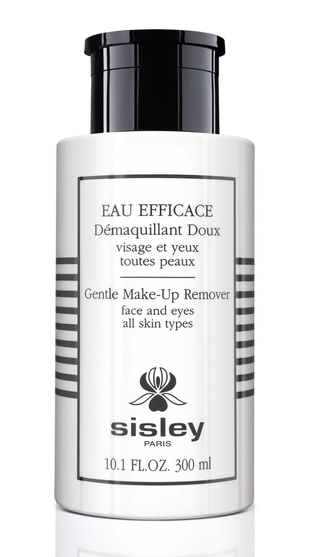 <p>Eau efficace, 830 kronor/300 ml, Sisley.<br>Lyxig remover som tar bort alla typer av ögonmakeup, även vattenfast mascara, utan att skada fransar eller den tunna huden runt ögonen. Nk.se</p>