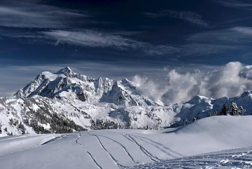 Drömmer du om en vit jul är Mount Baker din destination.