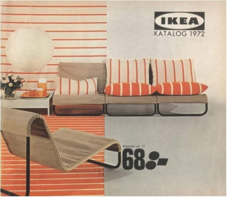 1972. Enkla stålrörsmöbler gällde.
