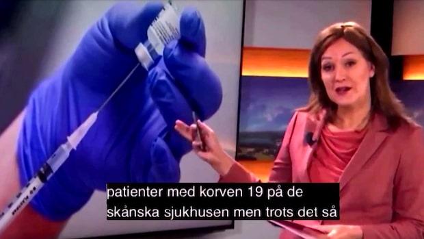 "Missen i SVT: Patienter sjuka i ""korven 19"""