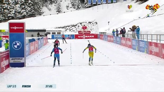Hanna Öberg tvåa efter superdramatik