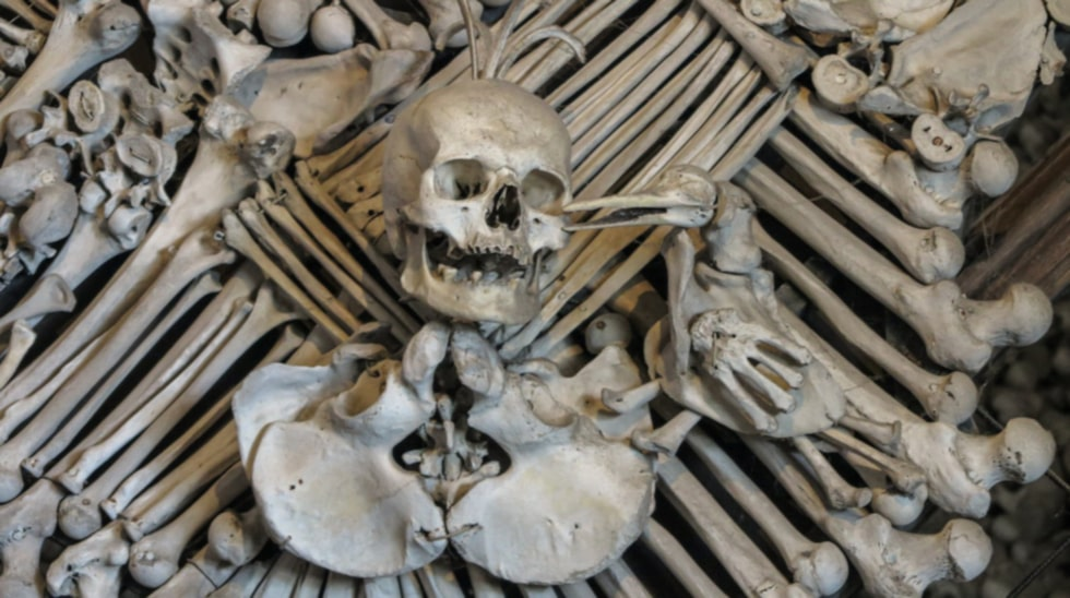 Skelettkyrkan i Sedlec, Tjeckien