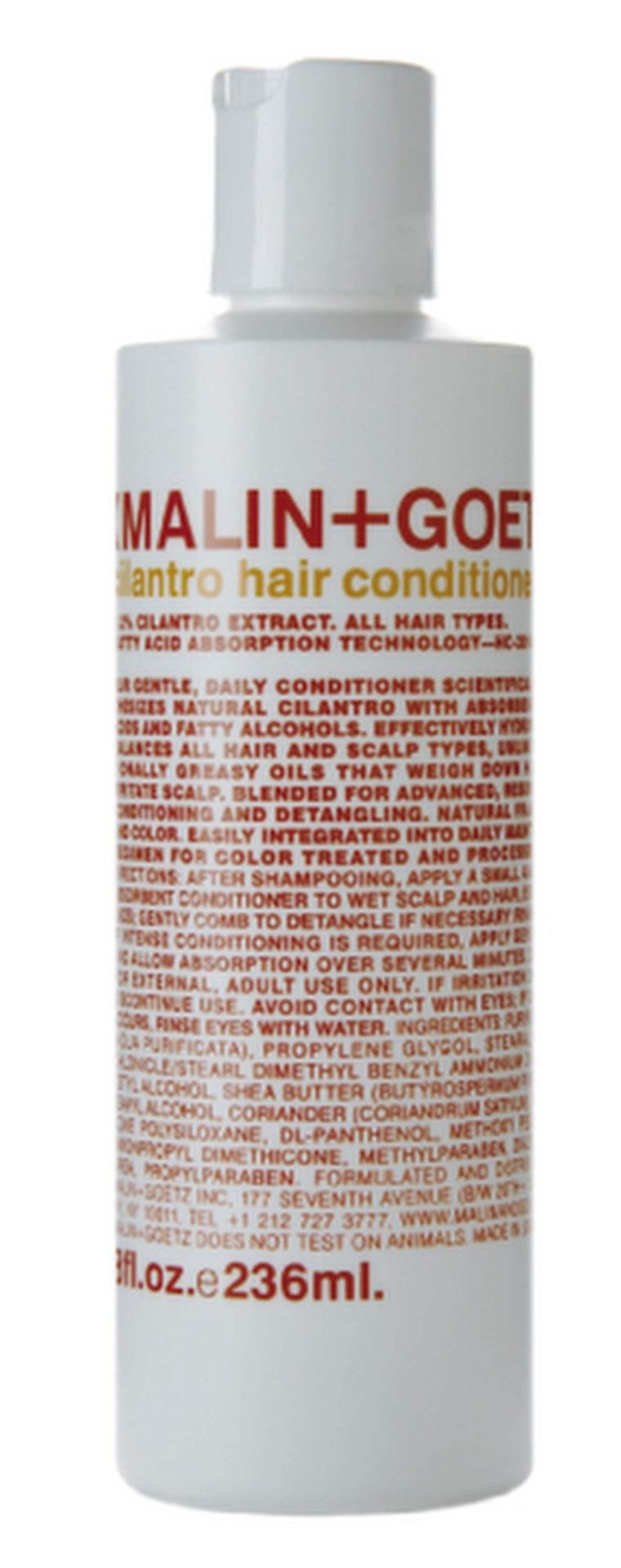 Om du inte vågar satsa på bodylotion i håret finns kompletterande balsam från Malin+Goetz, 225 kronor.