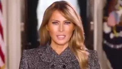"""Melania Trumps sista hälsning: """"Största äran i mitt liv"""""""
