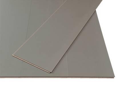 Trendigt grått. Klickgolvet Markland Antracit med laminerad yta. Har ett inbyggt underlagsmaterial som dessutom ger en ljuddämpande effekt i rummet, 279 kr/ kvm, Ikea.se.