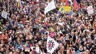 Europas tålamod brister – demonstrationer och fester | Nyheter | Expressen