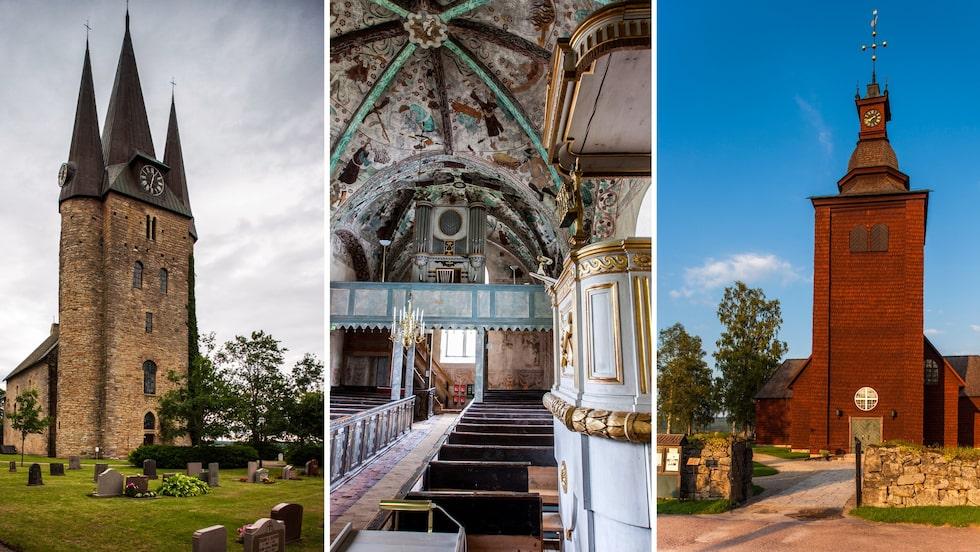 Husaby-, Härkeberga- och Ekshärads kyrka.