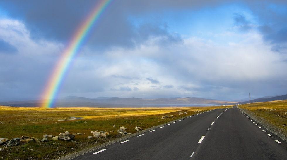 Delar av den drygt 50 mil långa Vildmarksvägen går över den närmare tusen meter höga Stekenjokkplatån mellan Lappland och Jämtland.