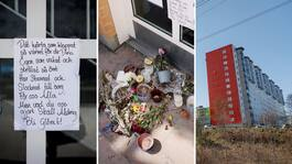 Kvinnan brutalt mördad inför sina fyra små barn