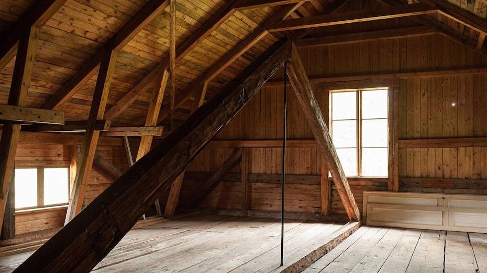 Huset är på 142 kvadratmeter, plus en oinredd vind.
