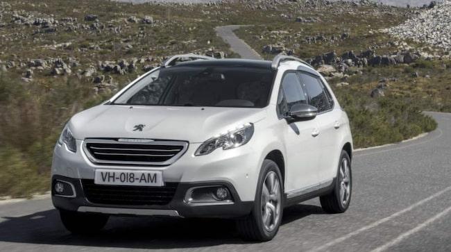 Peugeot 2008 kan bli första bilen med Hybrid air-tekniken.