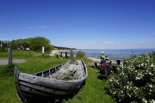 Viks fiskeläge - en av många idyller längs kustleden.